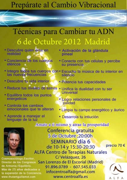 Taller técnicas Para cambiar el ADN (MADRID)-Thutam Guillamot