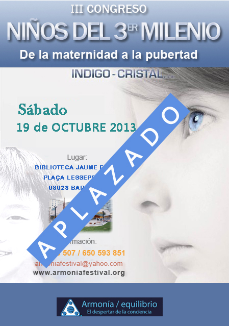 Cartel Niños 2013 aplazado